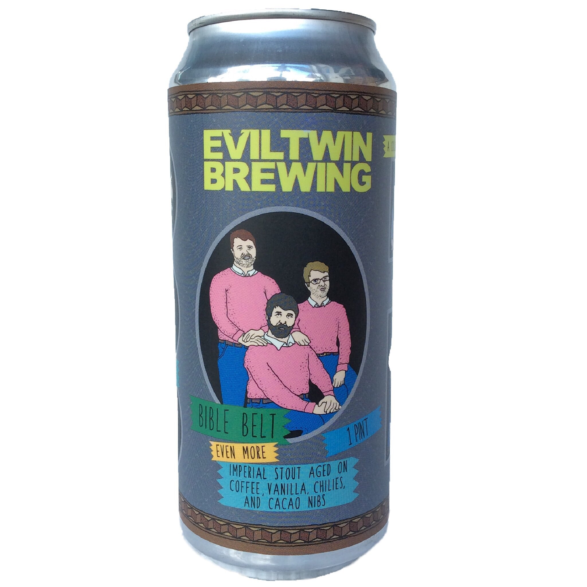 Evil Twin x Prairie Bible Belt Imperial Stout 13% (473ml can)-Hop Burns & Black