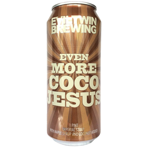 Evil Twin Even More Coco Jesus Imperial Stout 12% (473ml can)-Hop Burns & Black