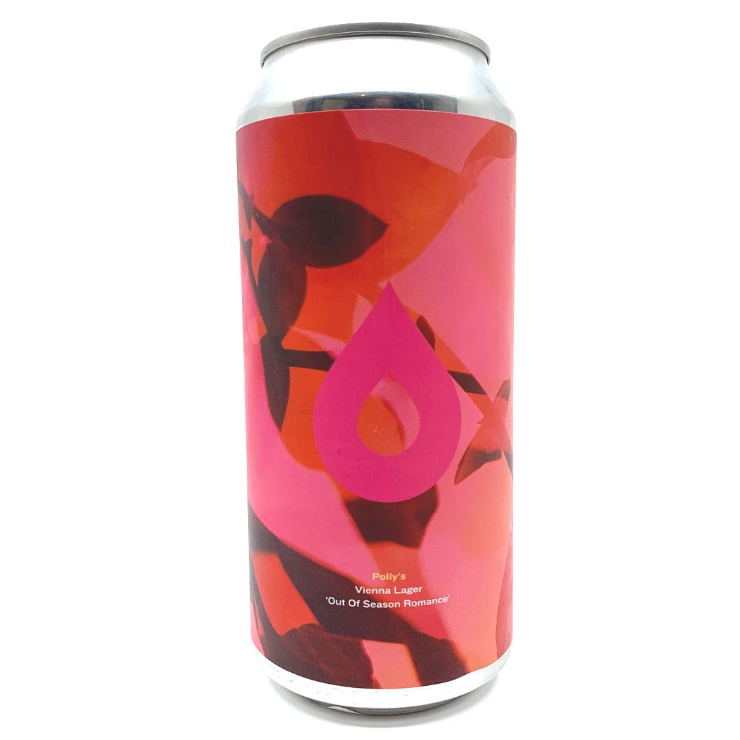 Polly's Brew Co Out of Season Romance Vienna Style Lager 5.1% (440ml can)-Hop Burns & Black