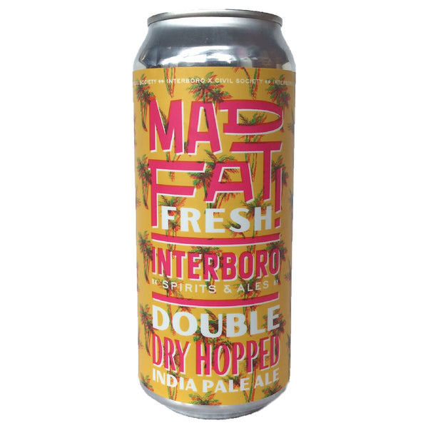 Interboro x Civil Society Mad Fat Fresh DDH IPA 6.5%-Hop Burns & Black