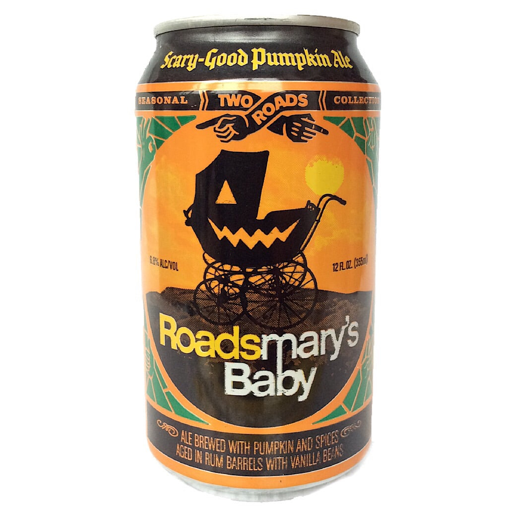 Two Roads Roadsmary's Baby Pumpkin Ale 6.8% (355ml can)-Hop Burns & Black