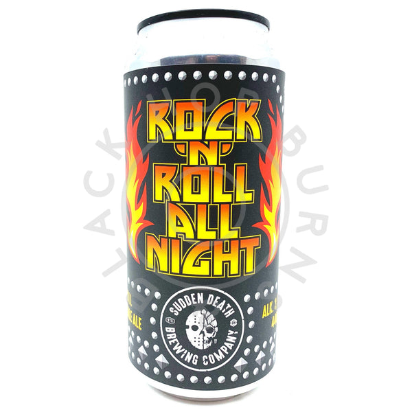 Sudden Death Rock'n'Roll All Night DDH Small IPA 3.5% (440ml can)-Hop Burns & Black