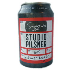 Signature Brew Studio Pilsner 4% (330ml can)-Hop Burns & Black