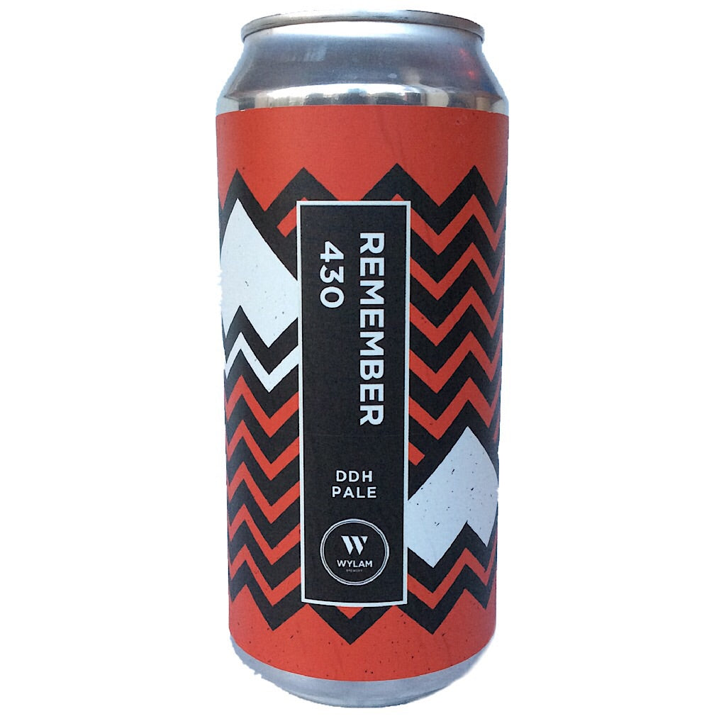 Wylam Remember 430 DDH Pale 5.5% (440ml can)-Hop Burns & Black