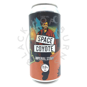 Gipsy Hill Space Coyote Imperial Stout 11% (440ml can)-Hop Burns & Black