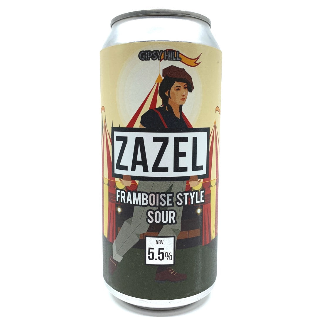 Gipsy Hill Zazel Framboise-Style Sour 5.5% (440ml can)-Hop Burns & Black