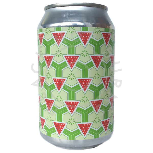 Brick Brewery Strawberry & Cucumber Sour 4.5% (330ml can)-Hop Burns & Black