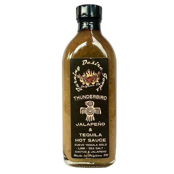 Burning Desire Thunderbird Tequila Hot Sauce (150ml)-Hop Burns & Black