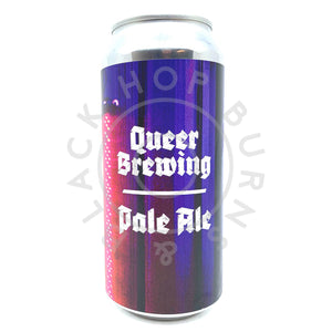 Queer Brewing Existence As A Radical Act Pale Ale 5% (440ml can)-Hop Burns & Black