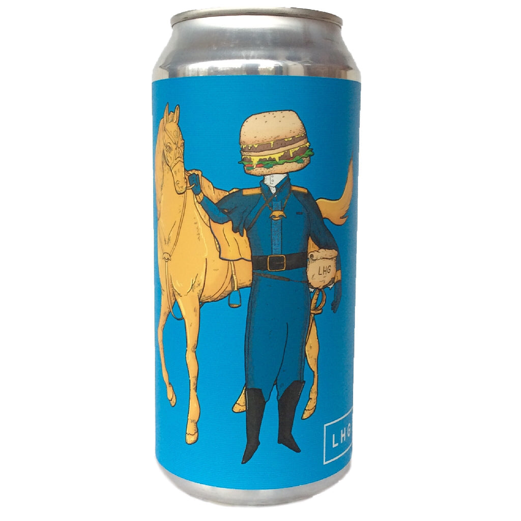 Left Handed Giant Double Cheeseburger Cavalry Double IPA 8.8% (440ml can)-Hop Burns & Black