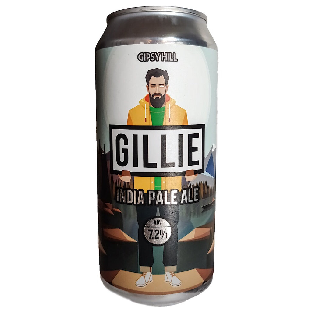 Gipsy Hill Gillie IPA 7.2% (440ml can)-Hop Burns & Black