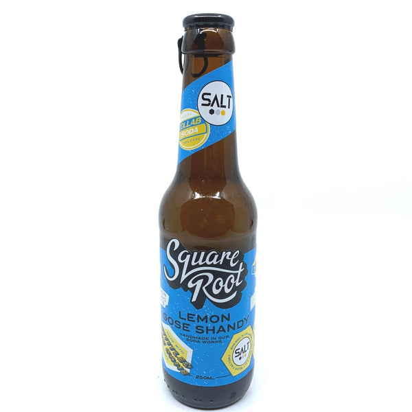 Square Root x Salt Beer Untitled Goose Game Lemon Gose Shandy 0.5% (275ml)-Hop Burns & Black