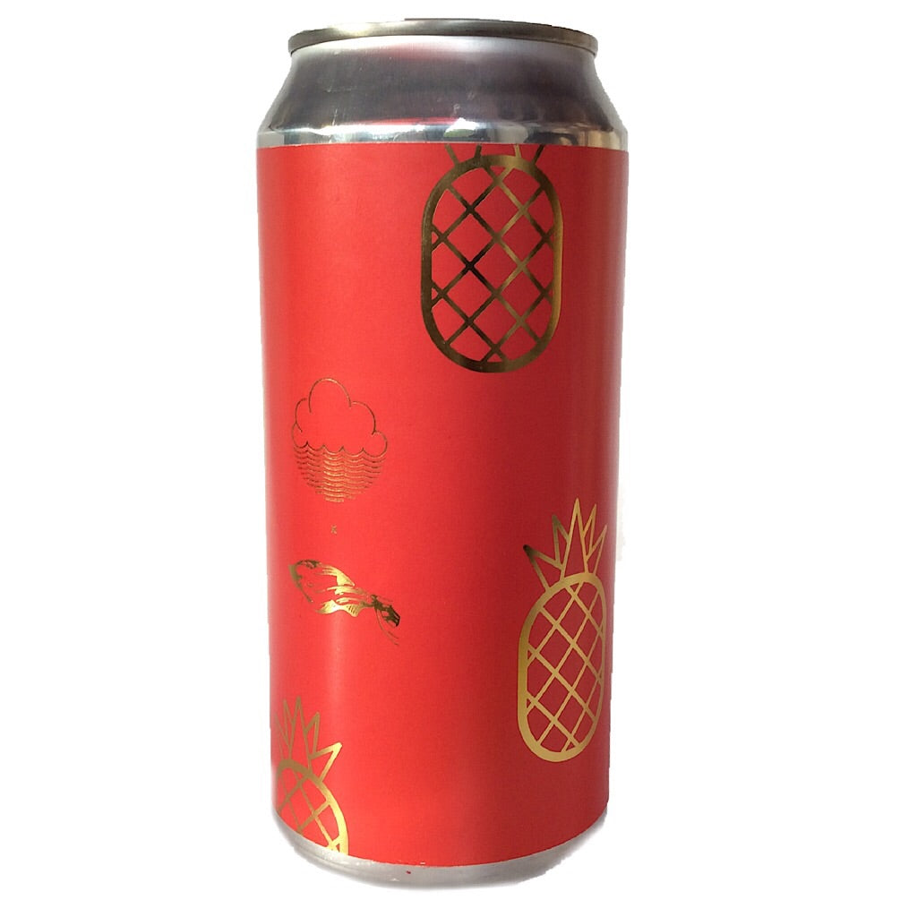 Cloudwater x The Veil Pineapple DIPA 8.5% (440ml can)-Hop Burns & Black