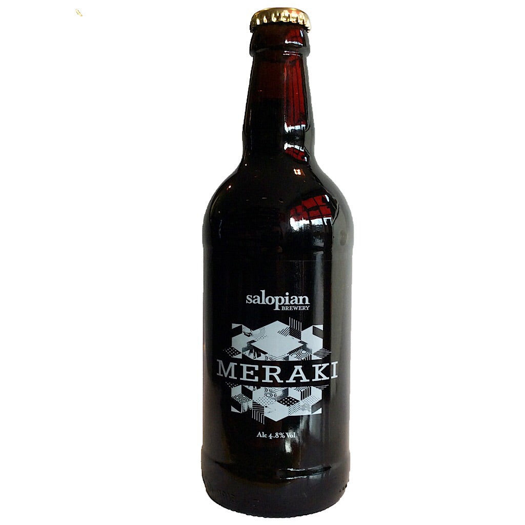 Salopian Meraki Stout 4.8% (500ml)-Hop Burns & Black