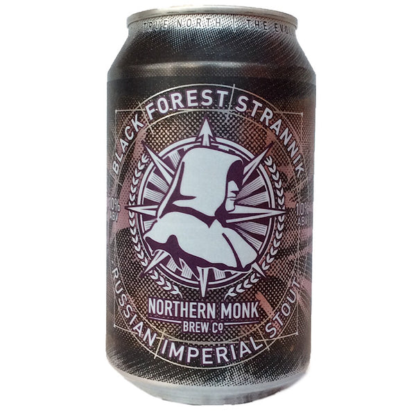 Northern Monk Black Forest Strannik Russian Imperial Stout 10% (330ml can)-Hop Burns & Black