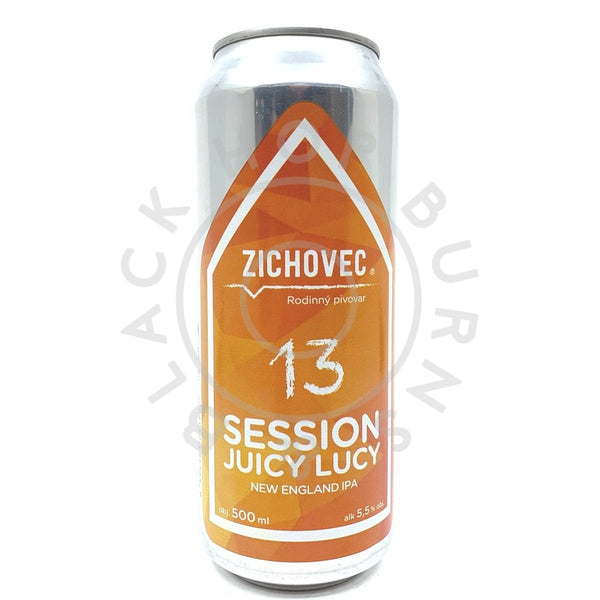 Pivovar Zichovec Session Juicy Lucy NEIPA 5.5% (500ml can)-Hop Burns & Black