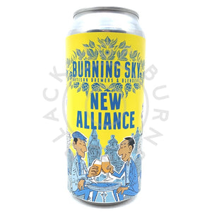 Burning Sky New Alliance Belgian Pale Ale 4.5% (440ml can)-Hop Burns & Black