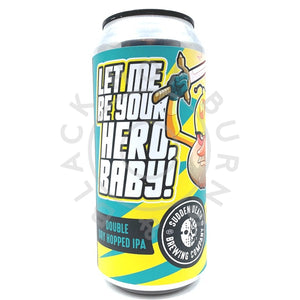 Sudden Death Let Me Be Your Hero DDH IPA 7% (440ml can)-Hop Burns & Black
