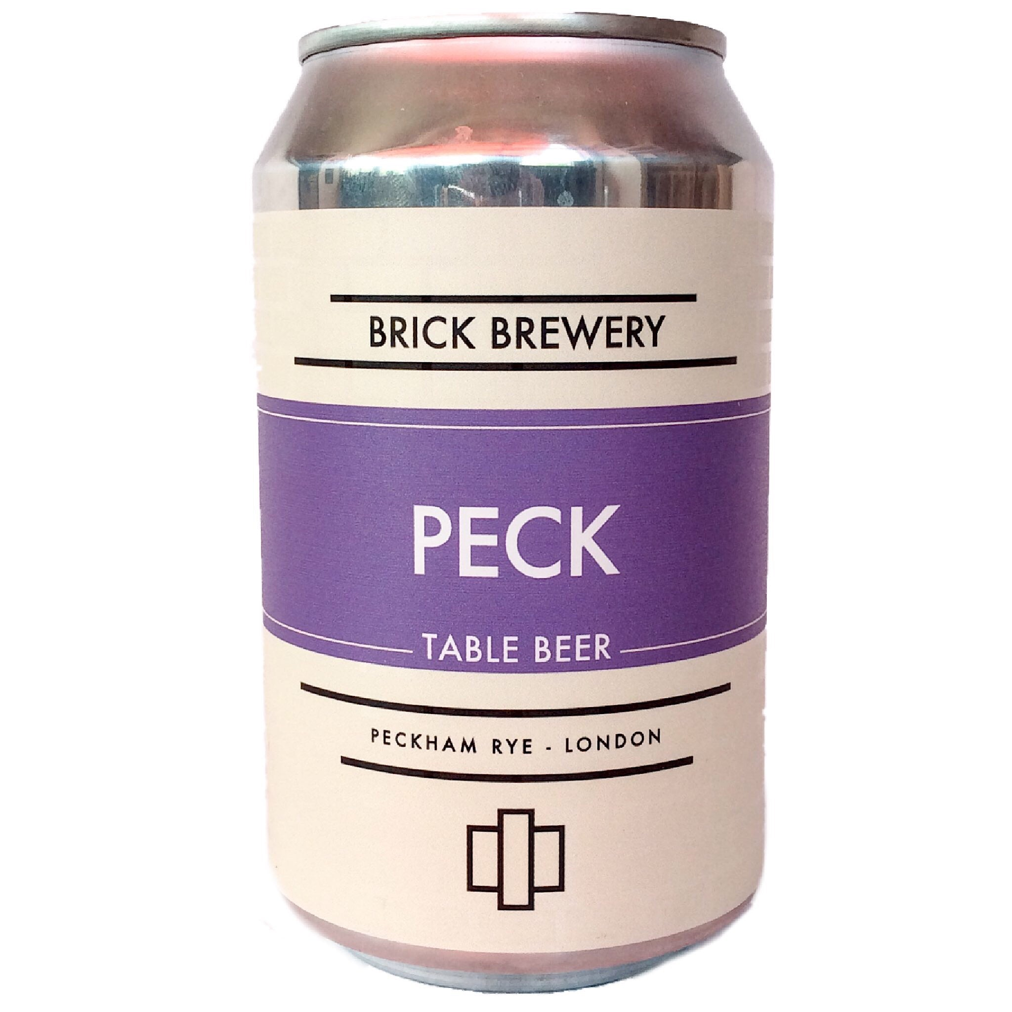 Brick Brewery Peck Table Beer 3% (330ml can)-Hop Burns & Black