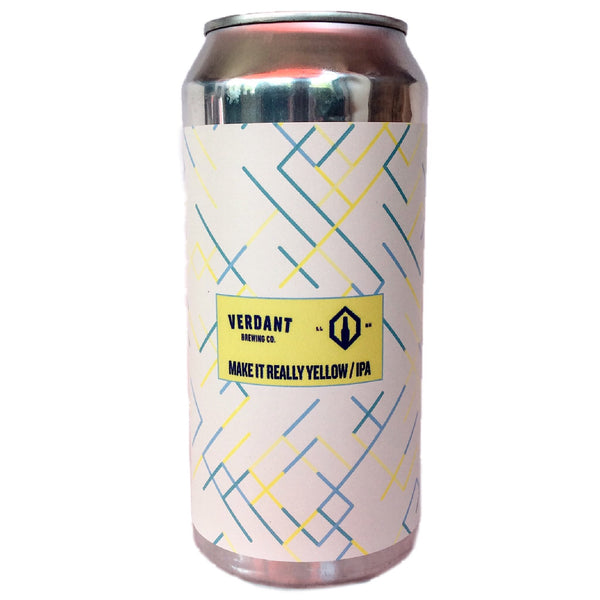 Verdant x Little Leeds Make It Really Yellow IPA 6.5% (440ml can)-Hop Burns & Black
