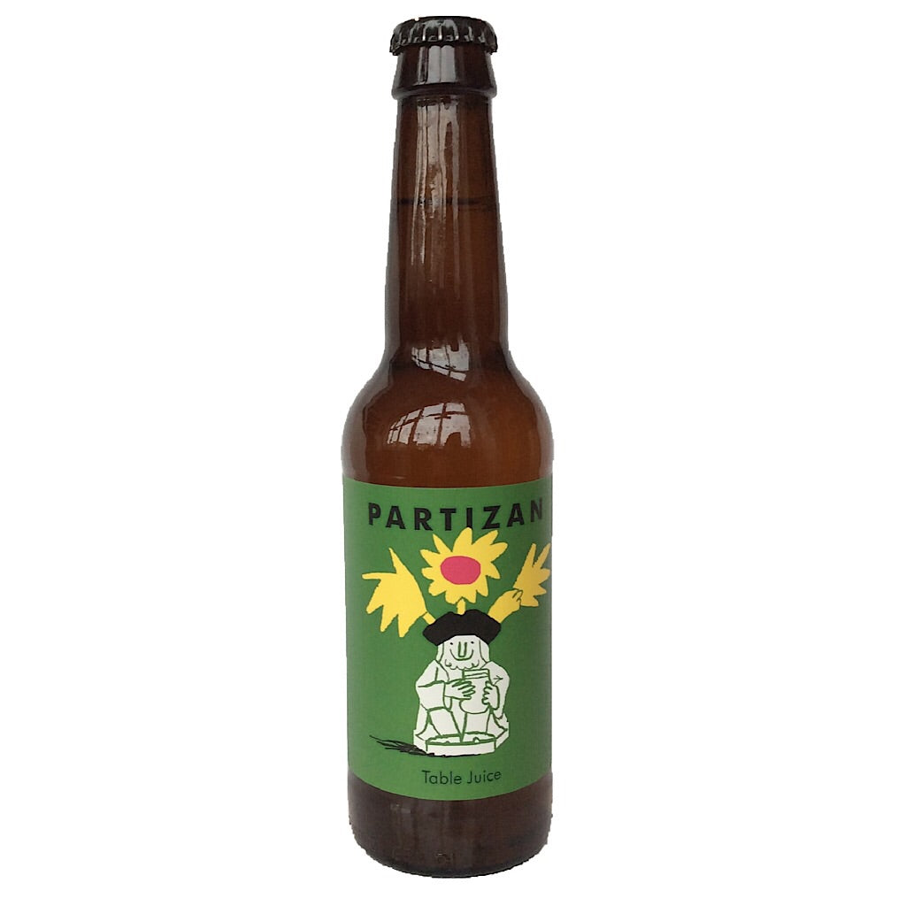 Partizan Table Juice Pale Ale 3% (330ml)-Hop Burns & Black