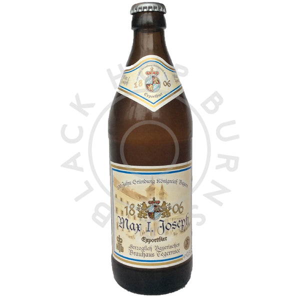 Tegernsee Max I Joseph Exportbier 5.2% (500ml)-Hop Burns & Black