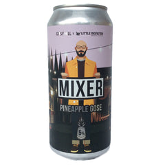 Gipsy Hill Mixer Pineapple Gose 5% (440ml can)-Hop Burns & Black