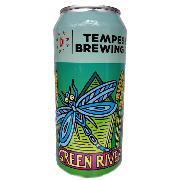 Tempest x Duration Green River Session IPA 4.5% (440ml can)-Hop Burns & Black