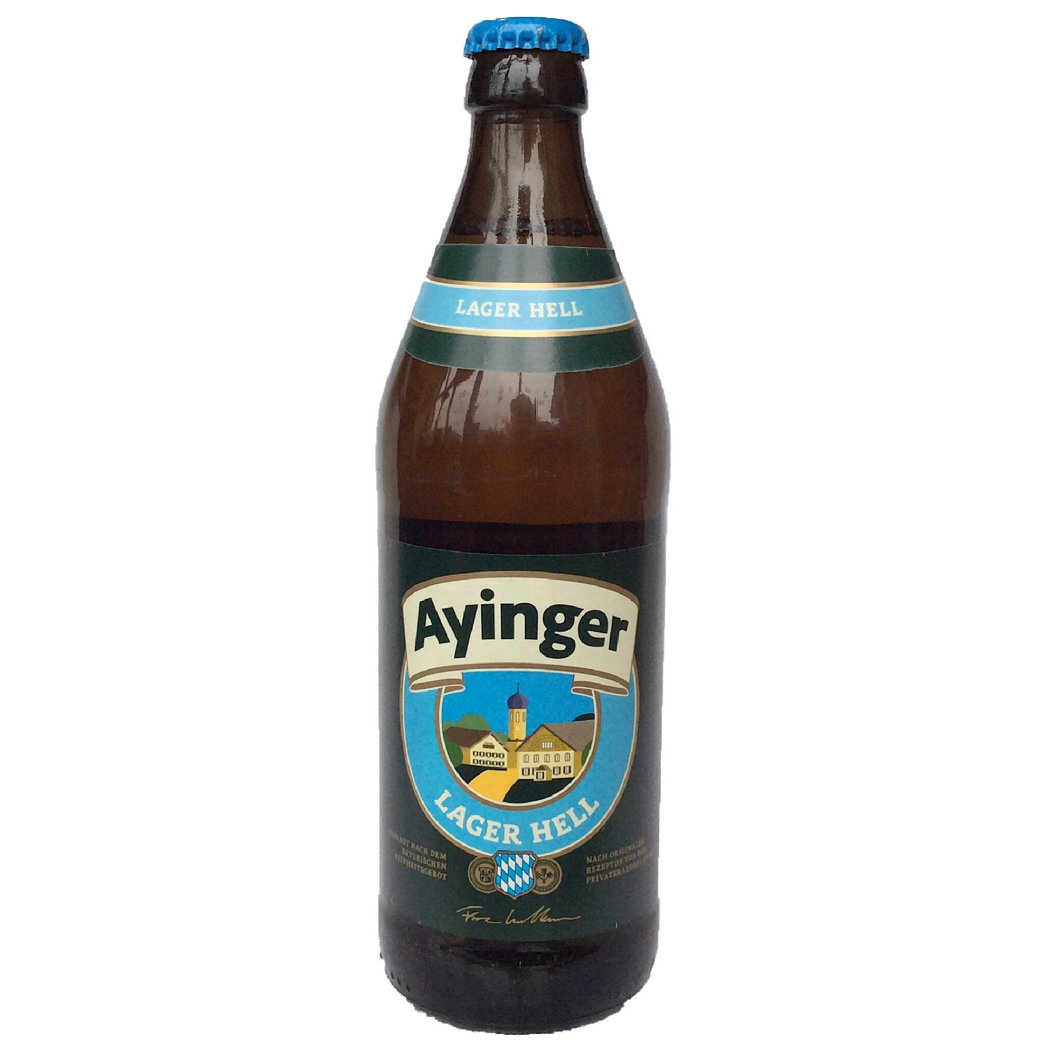 Ayinger Lager Hell 4.9% (500ml)-Hop Burns & Black