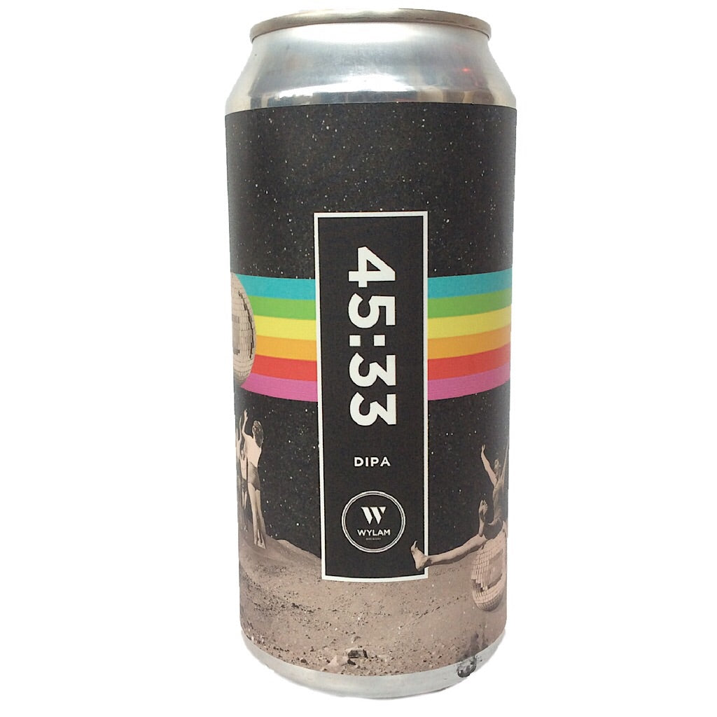 Wylam 45:33 DIPA 8.4% (440ml can)-Hop Burns & Black