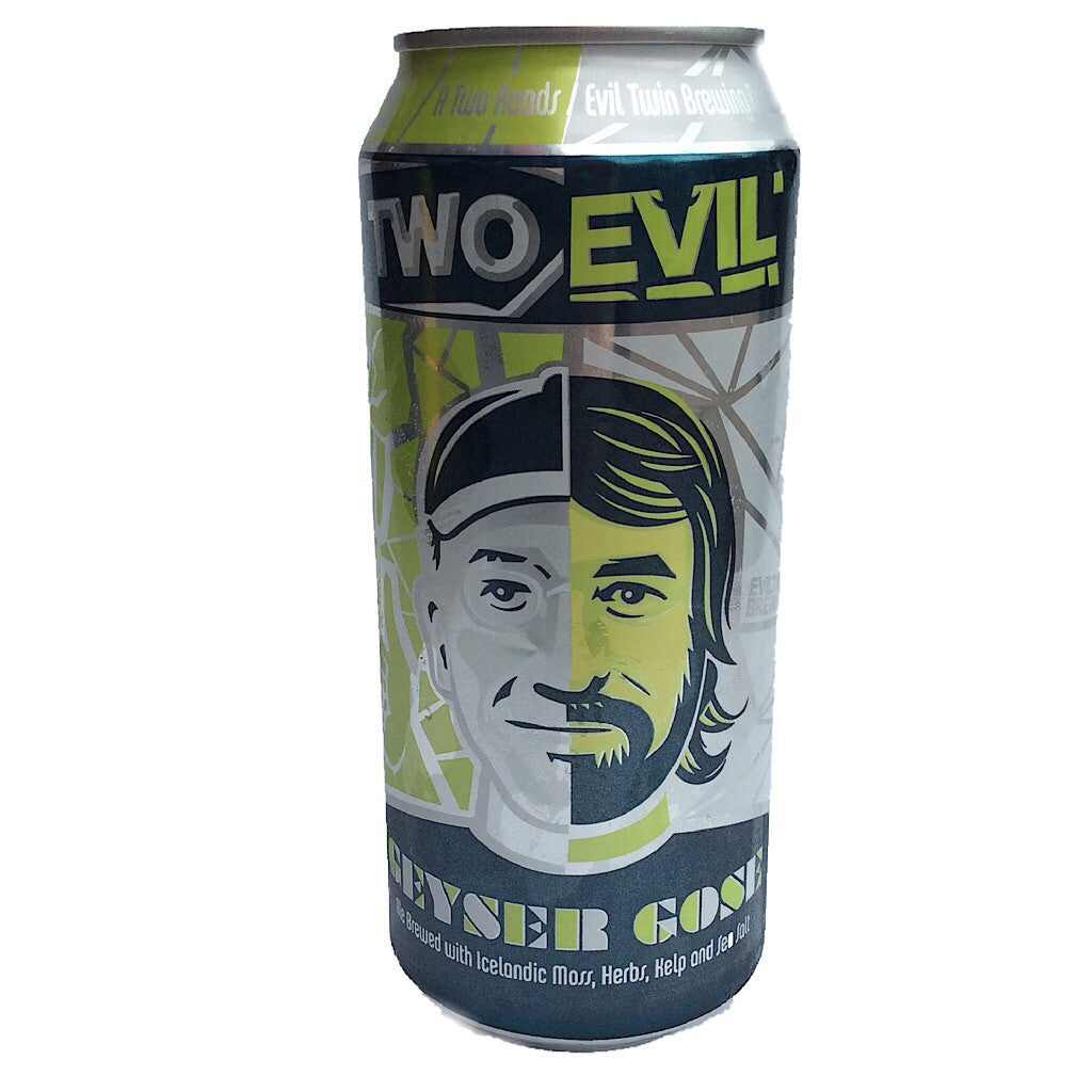 Two Roads x Evil Twin Geyser Gose 5.5% (473ml can)-Hop Burns & Black
