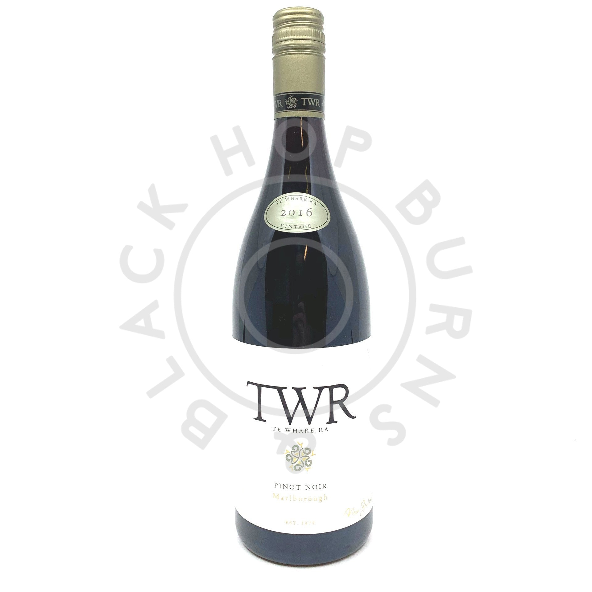 Te Whare Ra Pinot Noir 2016 13% (750ml)-Hop Burns & Black