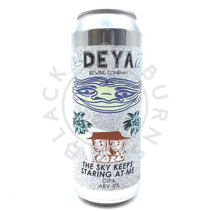 DEYA The Sky Keeps Staring At Me Double IPA 8% (500ml can)-Hop Burns & Black