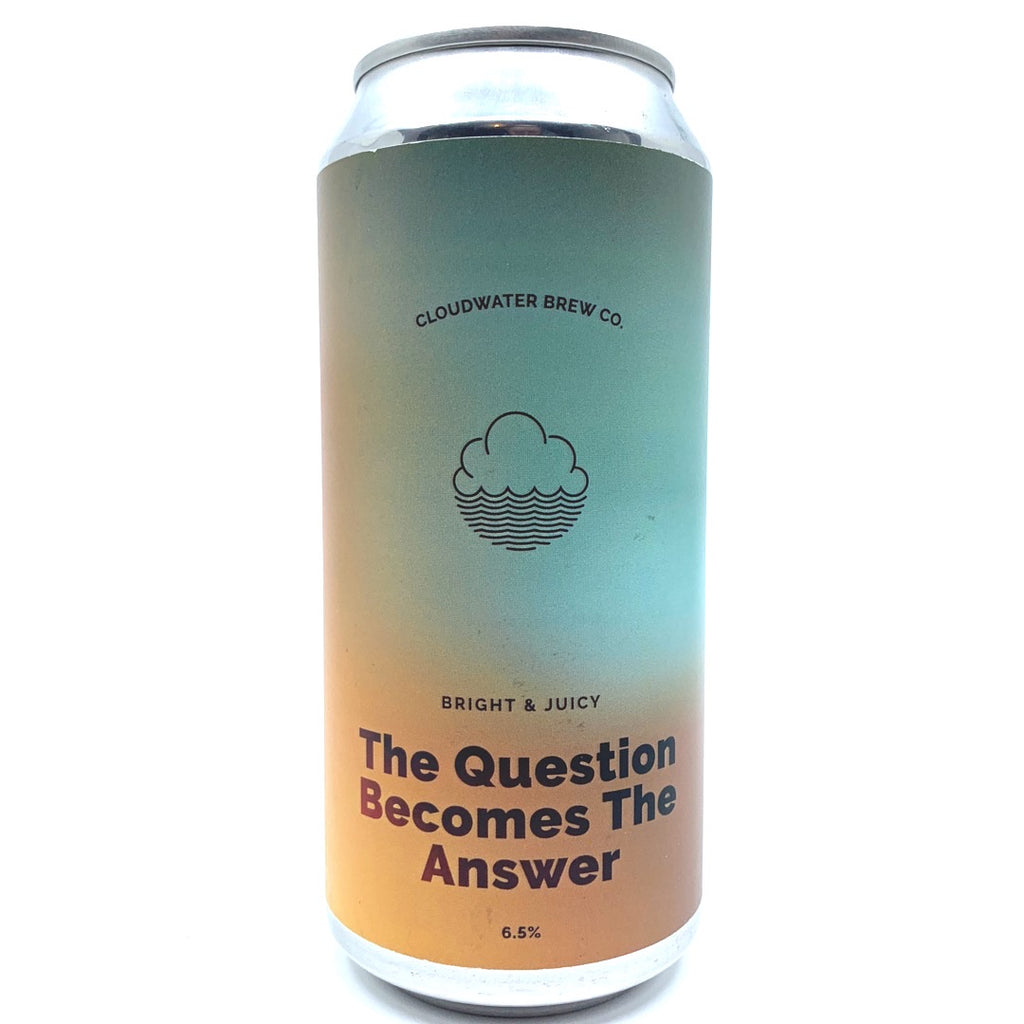 Cloudwater The Question Becomes The Answer IPA 6.5% (440ml can)-Hop Burns & Black