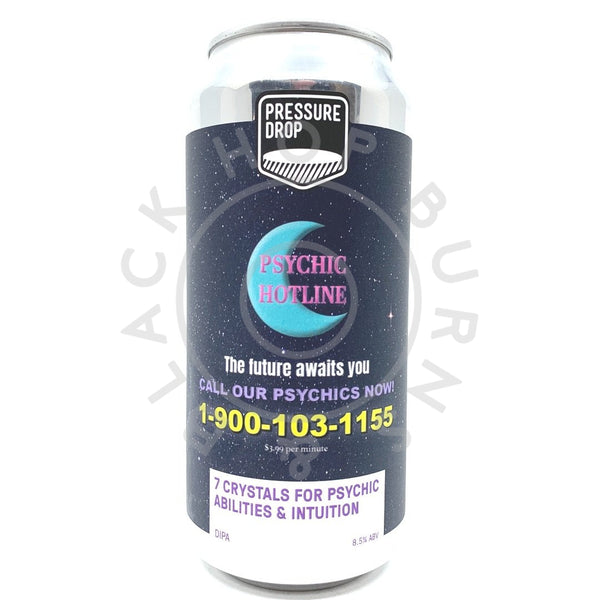 Pressure Drop 7 Crystals For Psychic Abilities & Intuition DIPA 8.5% (440ml can)-Hop Burns & Black