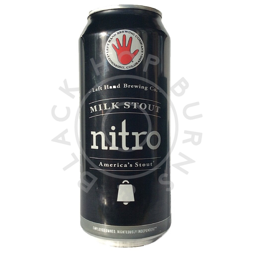 Left Hand Brewing Milk Stout Nitro 6% (473ml can)-Hop Burns & Black