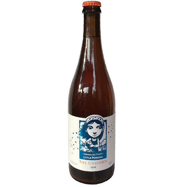 Little Pomona The Unicorn 2016 Sparkling Cider 7.5% (750ml)-Hop Burns & Black