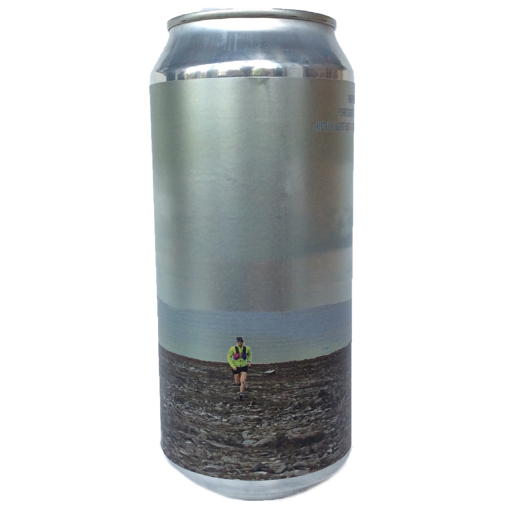 Northern Monk x Boundary x Ricky Lightfoot Three Peaks Mountain Race Edition: Yorkshire Farmhouse IPA Patrons Project 5.04 3.5% (440ml can)-Hop Burns & Black