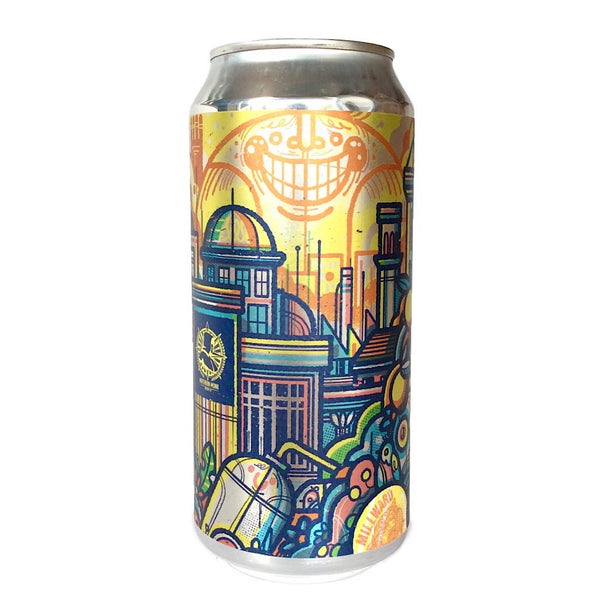 Northern Monk Patrons Project 4.02 Northern Tropics Pineapple and Grapefruit Juice IPA 7.4% (440ml can)-Hop Burns & Black