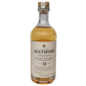 Aultmore 12 Year Old Speyside Single Malt Scotch Whisky 46% (750ml)-Hop Burns & Black