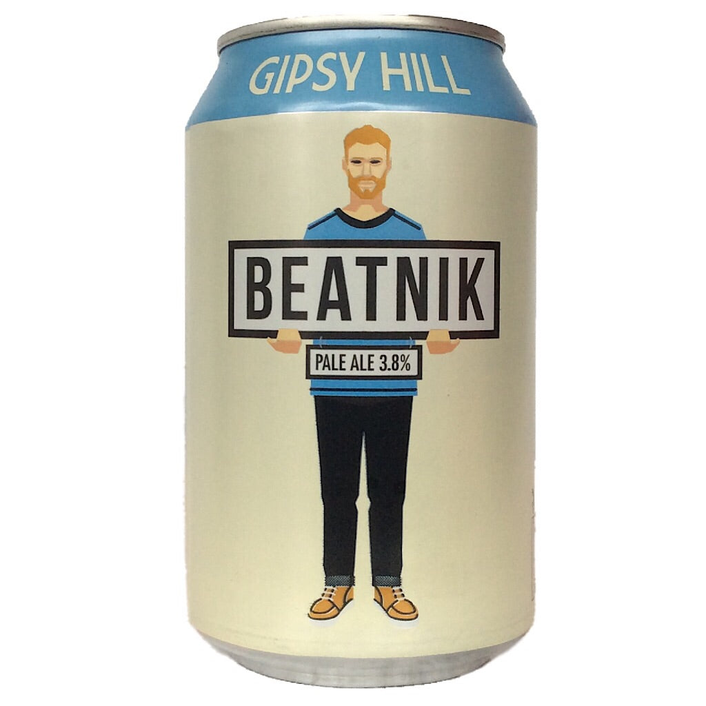 Gipsy Hill Beatnik Pale Ale 3.8% (330ml can)-Hop Burns & Black