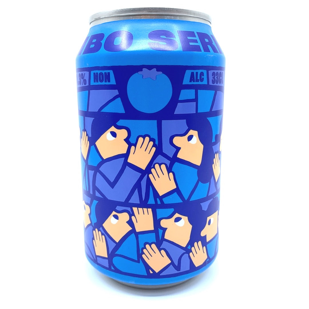 Mikkeller Limbo Alcohol-free Blueberry Sour 0.3% (330ml can)-Hop Burns & Black