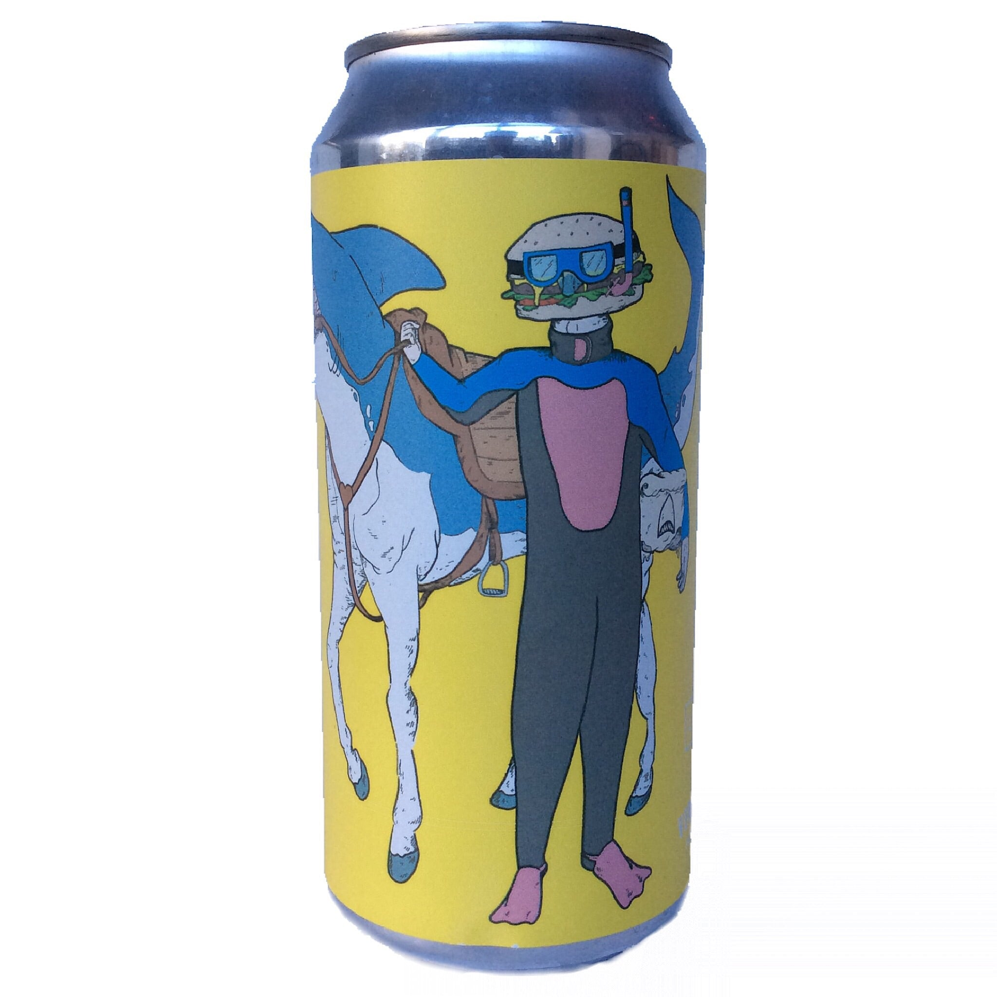 Left Handed Giant x Verdant Even Sharks Need Cheeseburgers IPA 6.5% (440ml can)-Hop Burns & Black