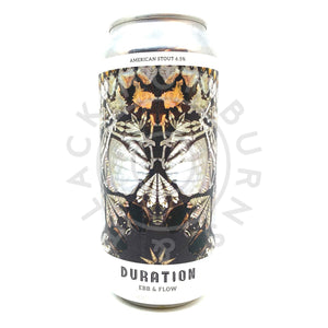 Duration Ebb & Flow American Stout 6.5% (440ml can)-Hop Burns & Black