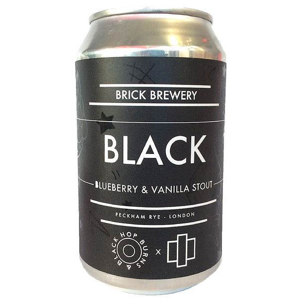 Brick x Hop Burns & Black BLACK Blueberry & Vanilla Stout 6.7% (330ml can)-Hop Burns & Black