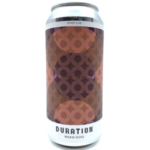 Duration Warm Hugs Stout 6% (440ml can)-Hop Burns & Black