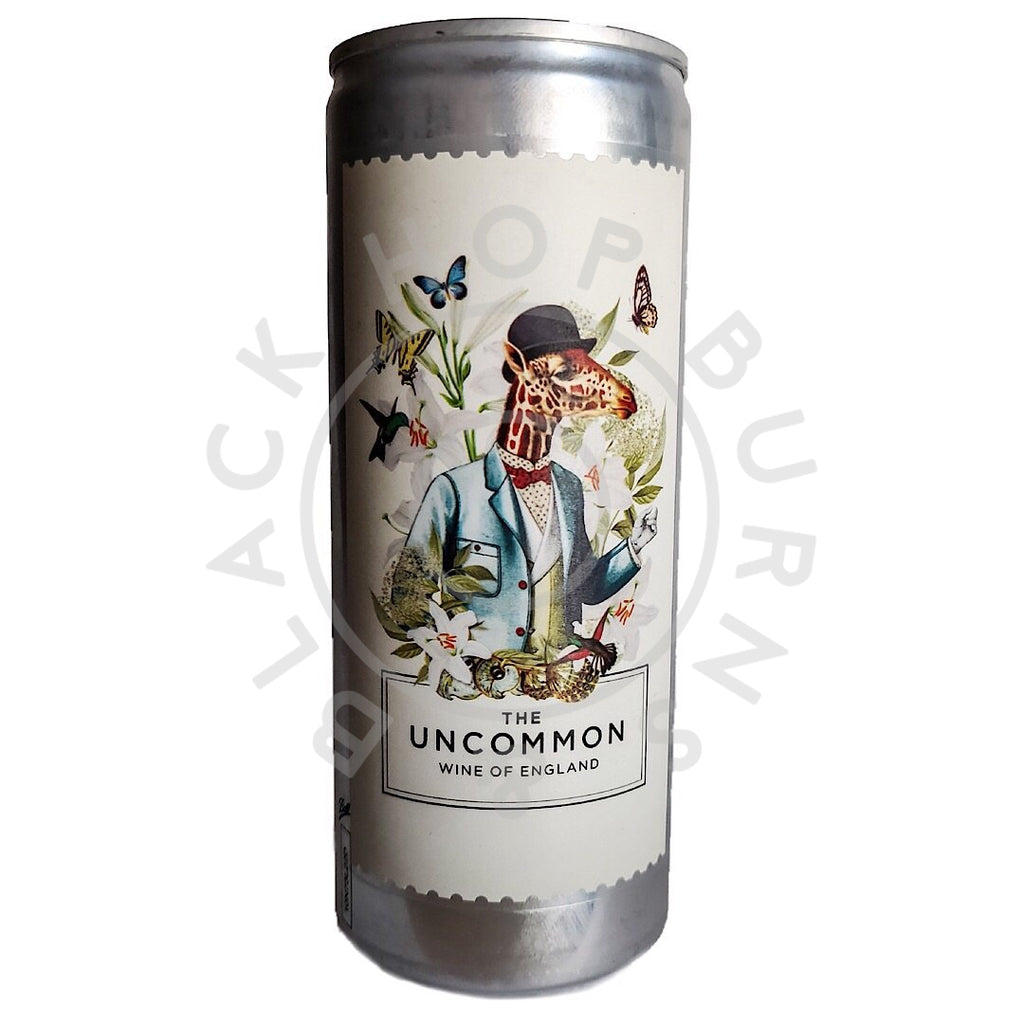 The Uncommon English Sparkling Bacchus White Wine 2018 11.5% (250ml can)-Hop Burns & Black
