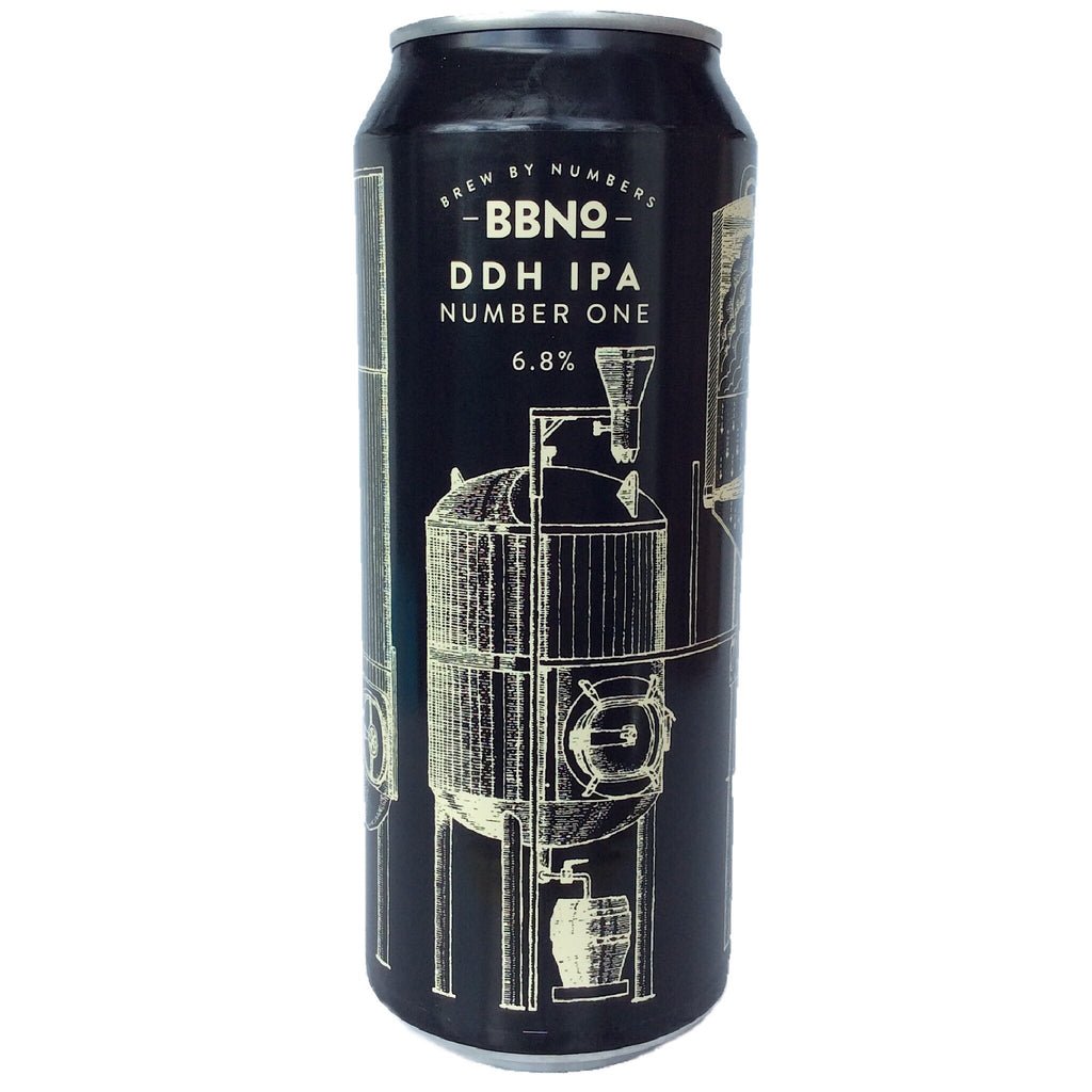 Brew By Numbers DDH IPA Number One 6.8% (500ml can)-Hop Burns & Black