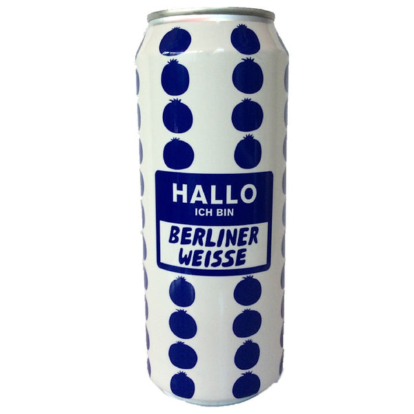 Mikkeller Hallo Ich Bin Berliner Weisse Blueberries 3.7% (500ml can)-Hop Burns & Black