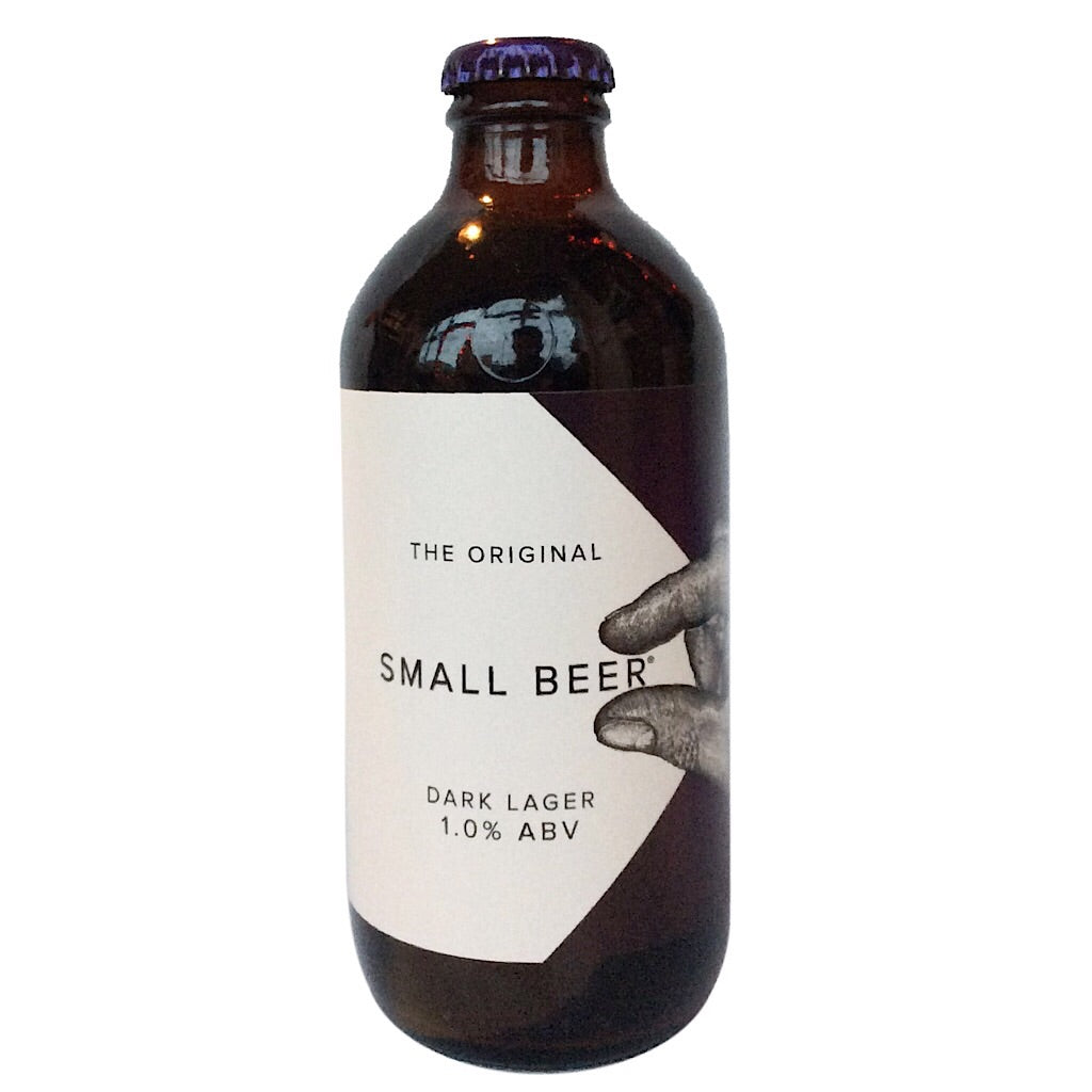 Small Beer Dark Lager 1% (350ml)-Hop Burns & Black